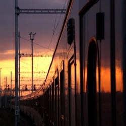 Treno in stazione centrale.